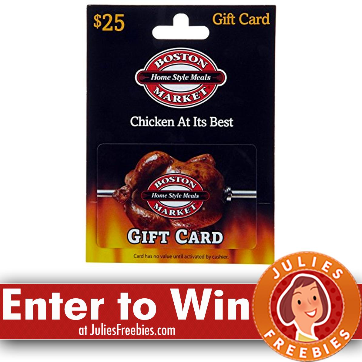 Win A $50 Boston Market Gift Card