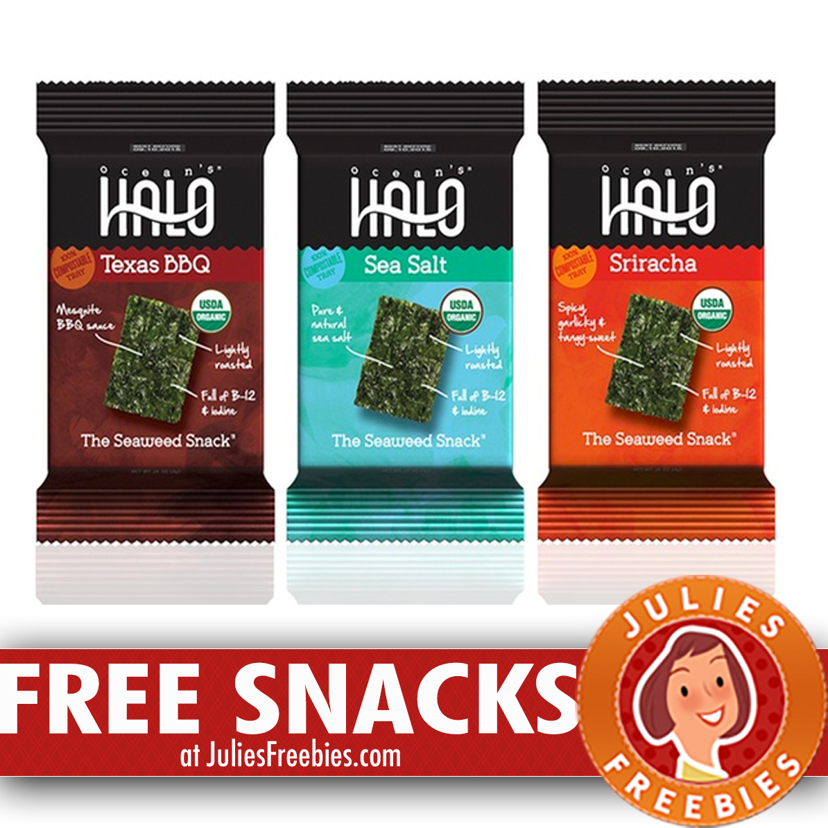 Free Ocean's Halo Seaweed Snacks with Social Nature ...