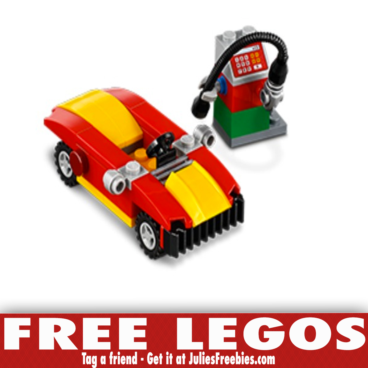 Free LEGO Car and Gas Pump Build Event - Julie's Freebies