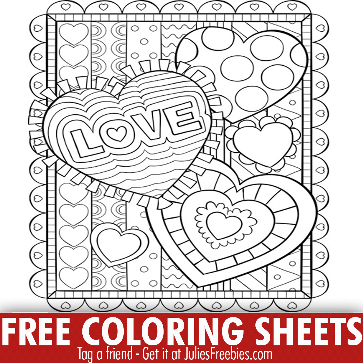 Free Crayola Valentine's Day Coloring Print Outs - Julie's ...