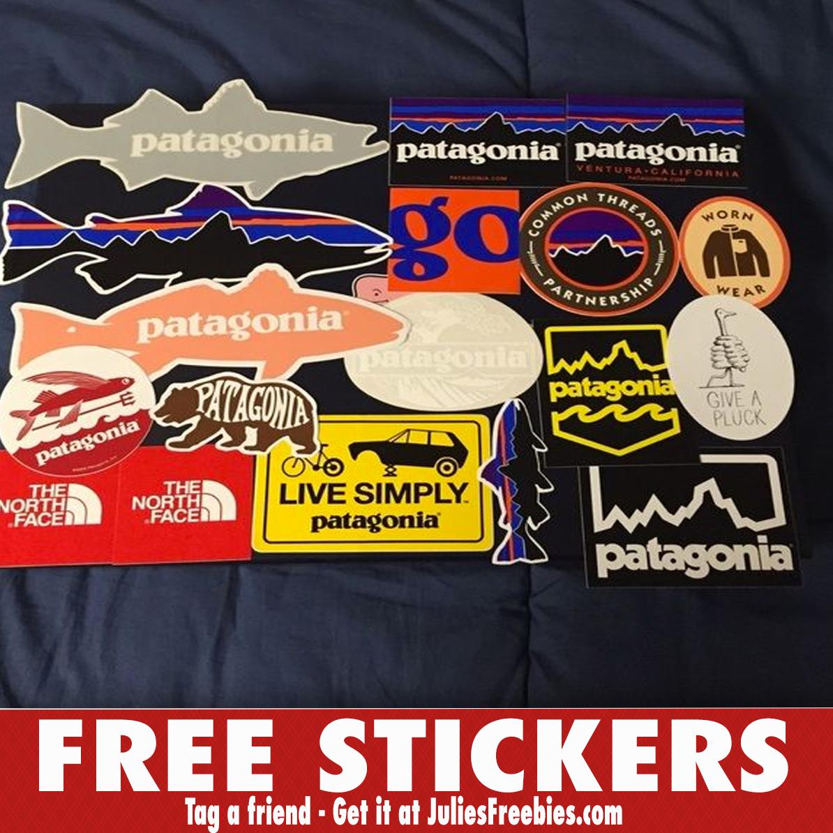 Free Patagonia Stickers - Julie's Freebies