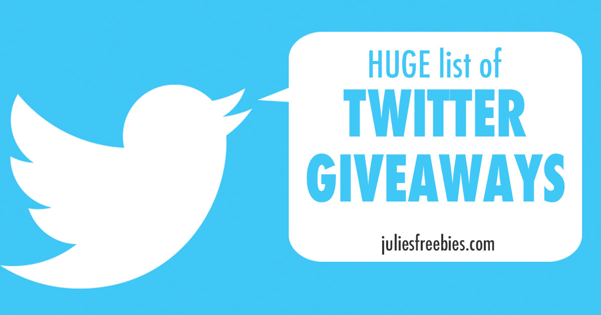 HUGE LIST of Twitter Giveaways - UPDATED DAILY!