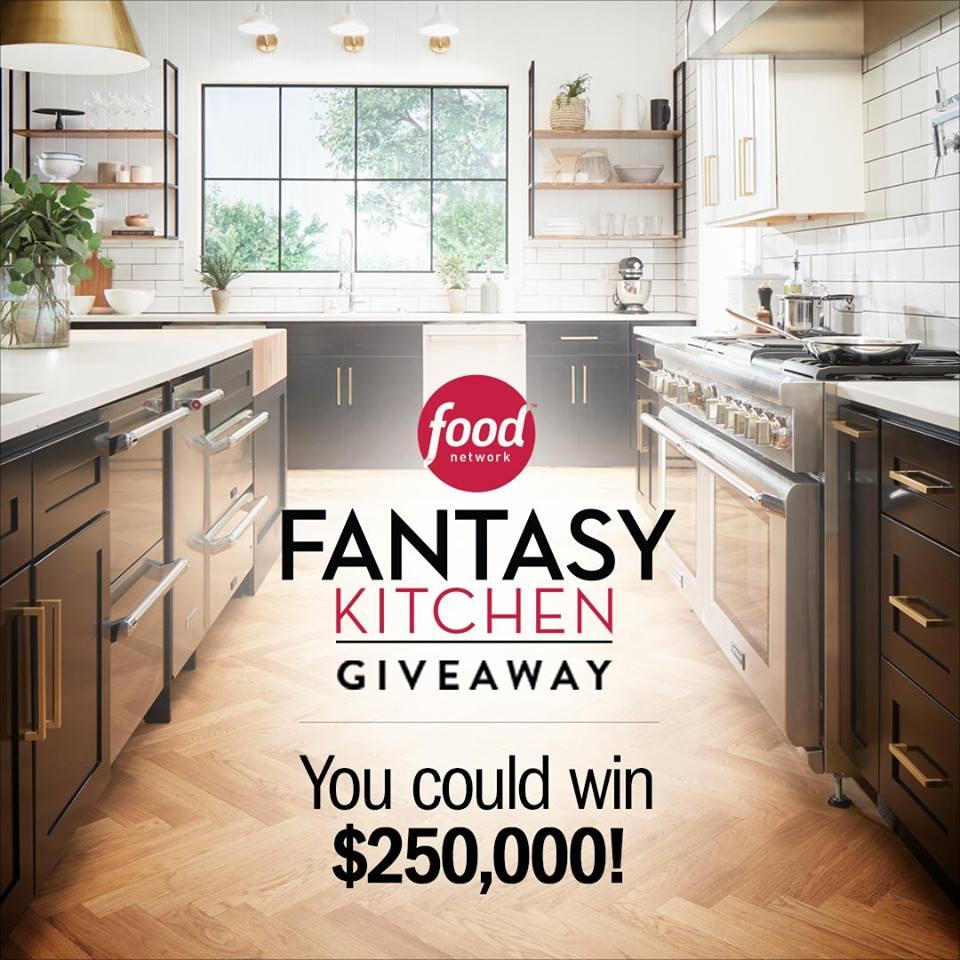 Food Network Fantasy Kitchen Sweepstakes 2018