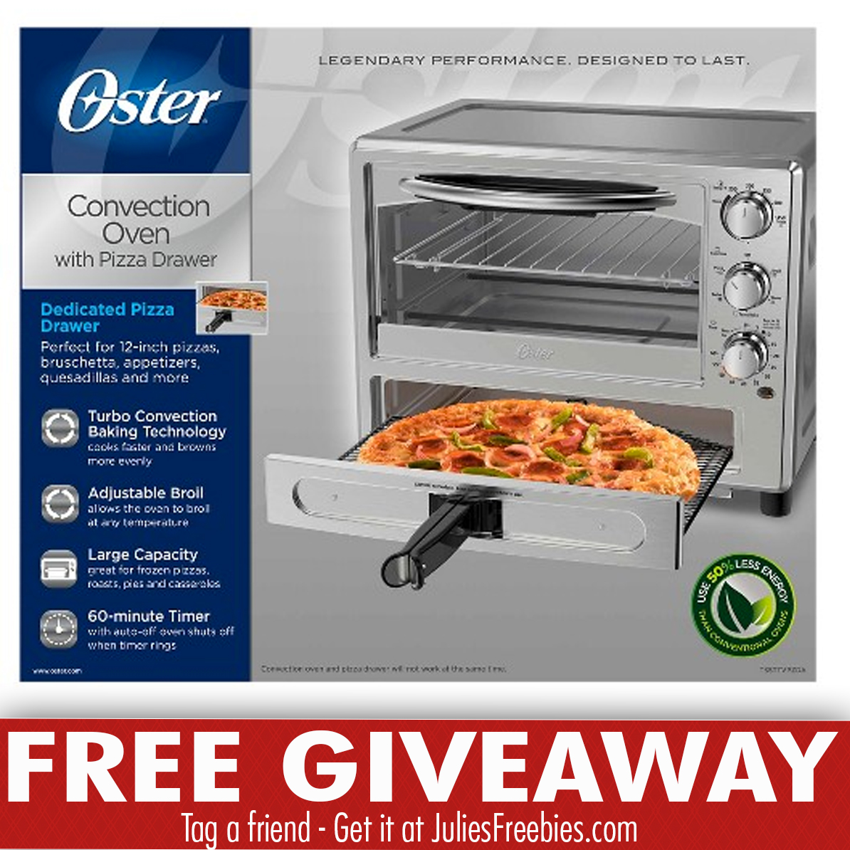 Win A Oster Convection Oven With Dedicated Pizza Drawer