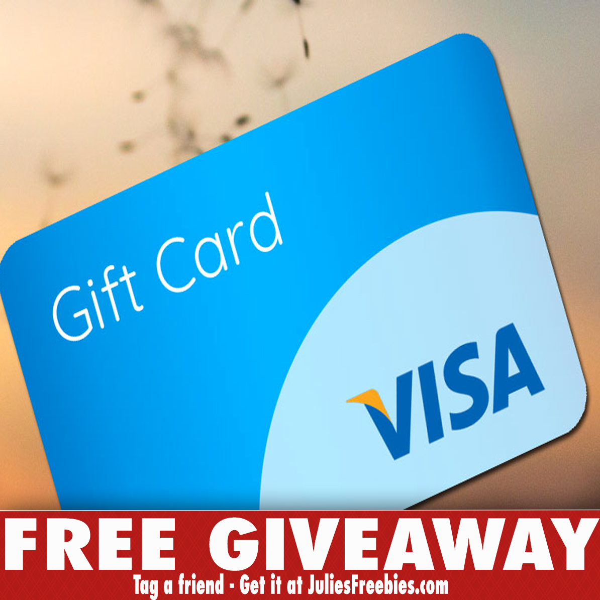 visa sweepstakes 3 winners win a 100 00 gift card julie s freebies 4348