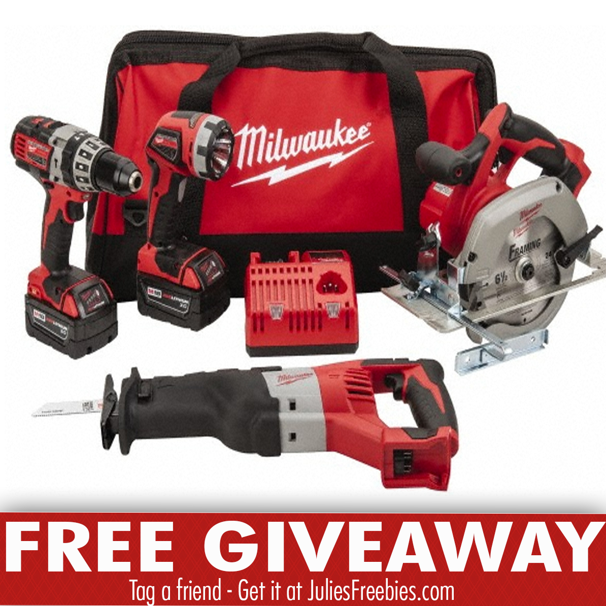 Milwaukee tools giveaways