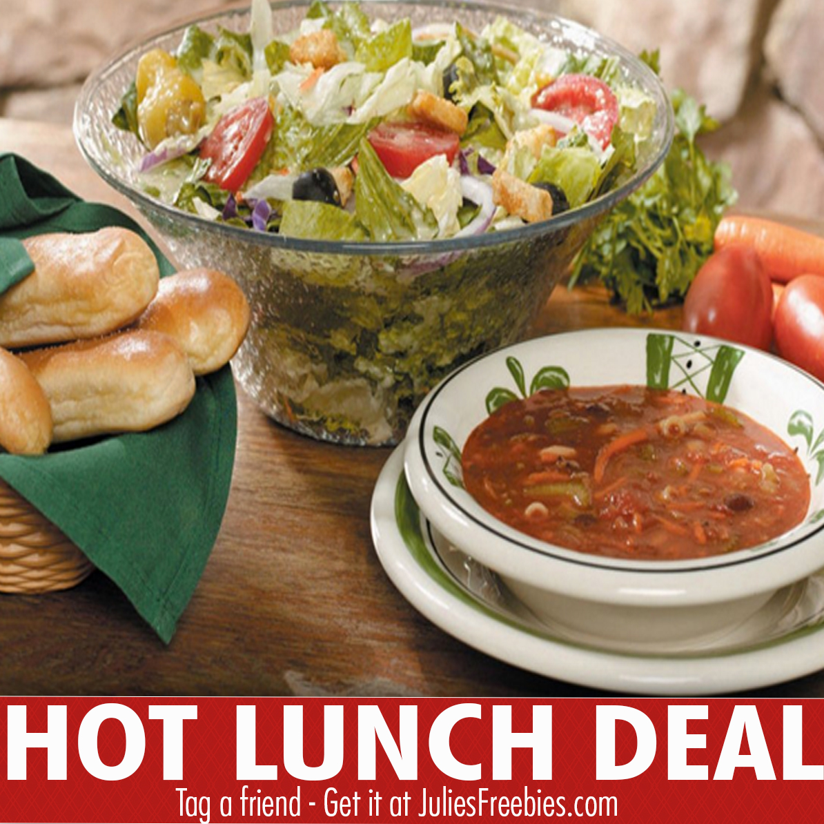 Hot Lunch Deal at Olive Garden - Julie\'s Freebies