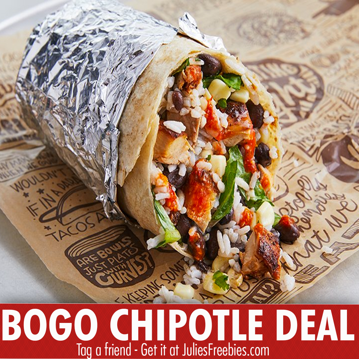 feb6b32c2 If so, you can stop by Chipotle on May 8, 2018, between 3pm – close, with  your faculty ID, and you can get 2 burritos, for the price of just 1!