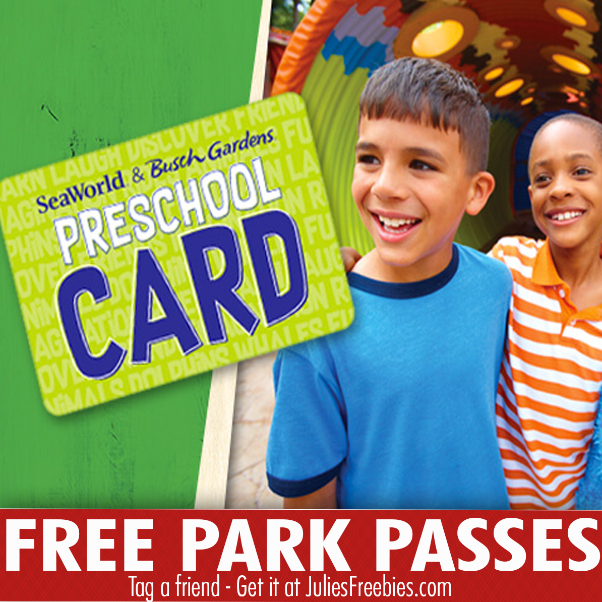 Free preschool card for busch gardens and seaworld florida only julie 39 s freebies for How to check if your busch gardens pass is expired