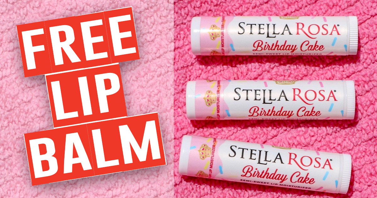 FREE Birthday Cake Flavored Lip Balm From Stella Rosa