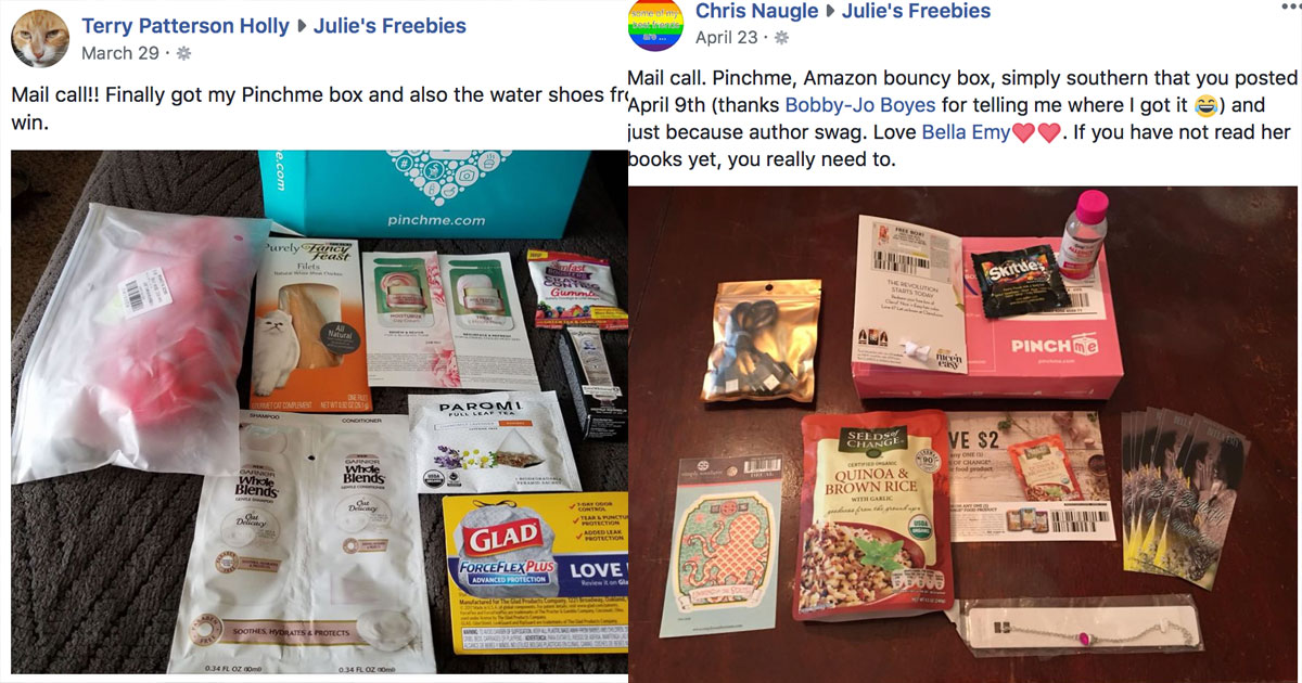 julies freebies by mail