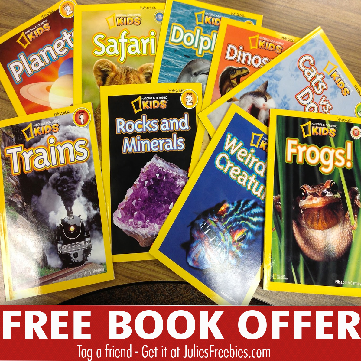 Free National Geographic Kids Books with Mom's Meet