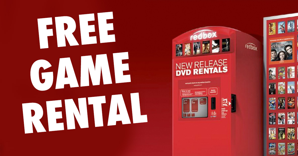 Free game rental redbox 2018