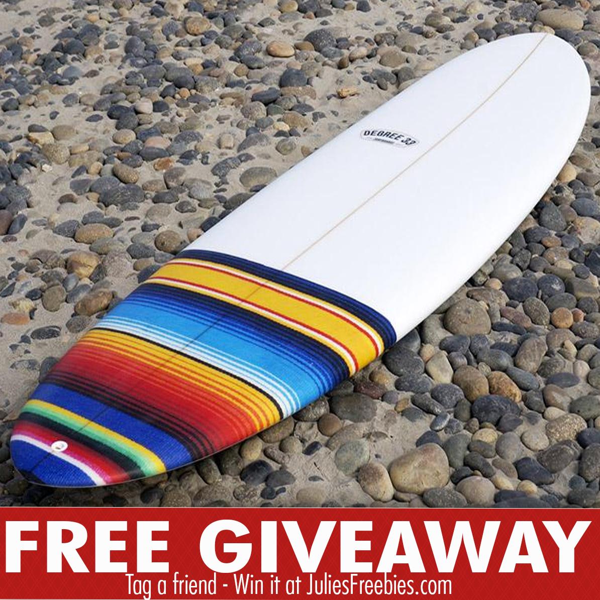 Degree 33 surfboard giveaways