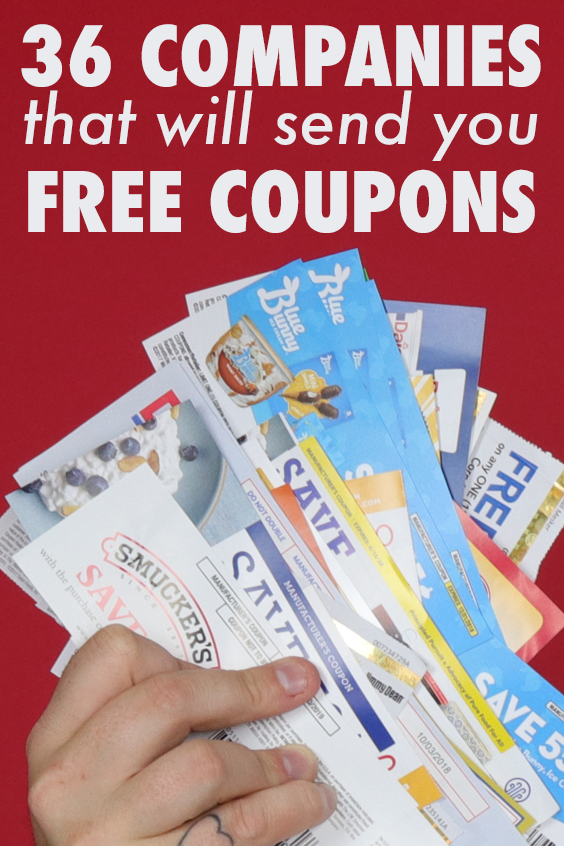 Manufacturer Coupons Mail >> How To Get Free Coupons By Mail 36 Companies Sent Us Free Coupons