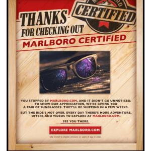 FREE Sunglasses from Marlboro - Julie's Freebies