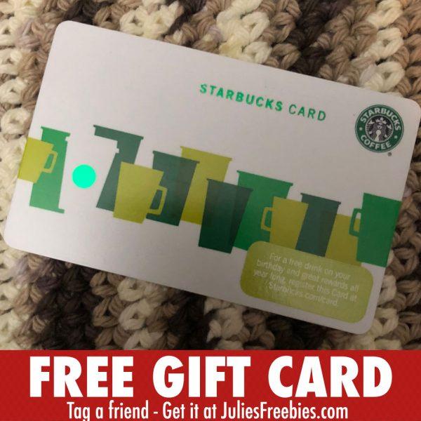 Free 5 Starbucks Gift Card Julies Freebies