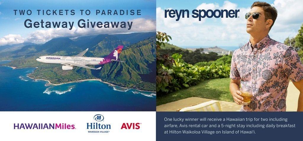 Reyn Spooner Hawaiian Getaway Sweepstakes - Julie's Freebies