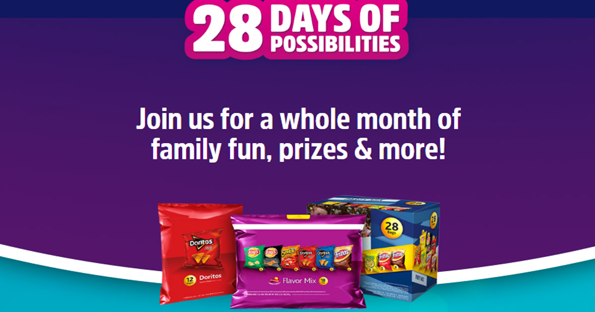 Frito Lay Variety Packs 28 Days Of Possibilities