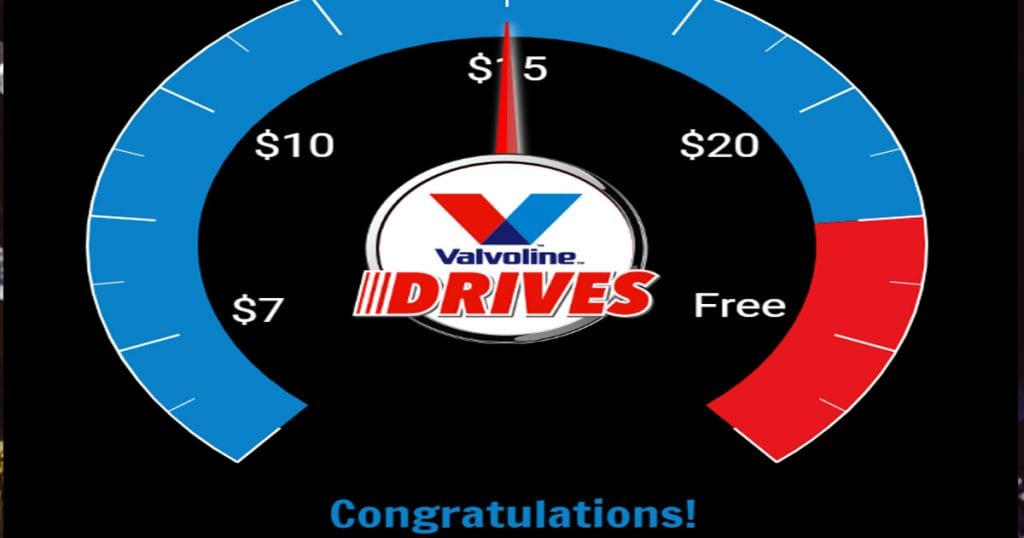 Valvoline Drives Reward Instant Win Game - Julie's Freebies