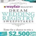 Wayfair Dream Wedding Registry Sweepstakes