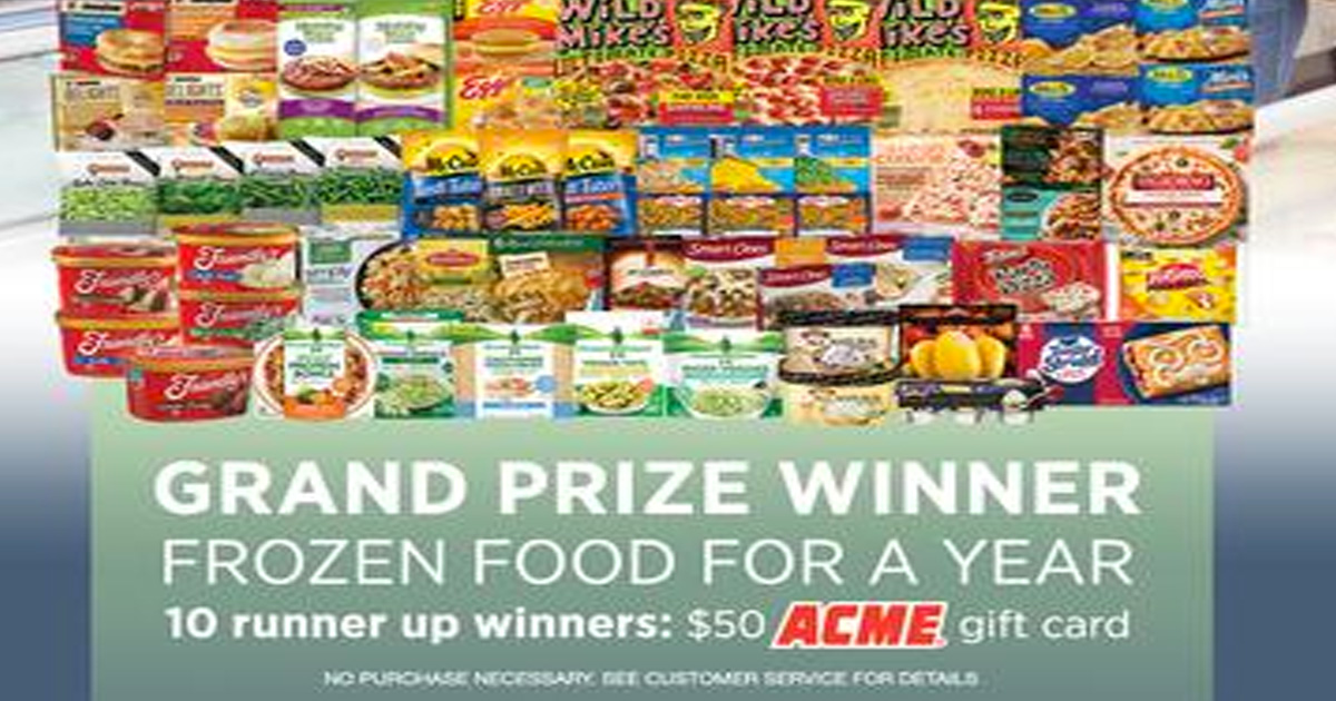 March Frozen Food Month Sweepstakes - Julie's Freebies