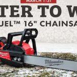 Milwaukee Chainsaw Giveaway