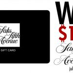 Saks Fifth Avenue Win A $1500 Shopping Spree Sweepstakes