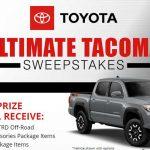WIN A 2019 Toyota Truck!