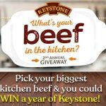 WIN a YEAR's Worth of Keystone Beef!