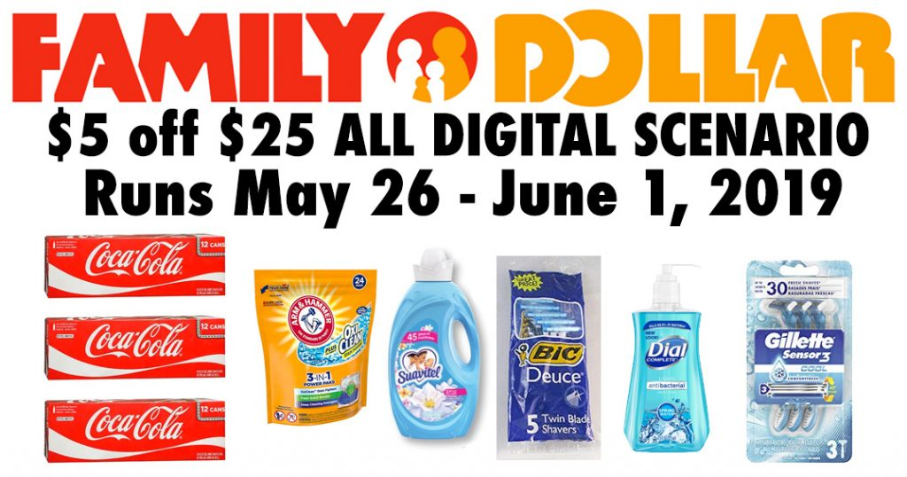 Family Dollar $5 off $25 Scenarios for 5/26-6/1! - Julie's