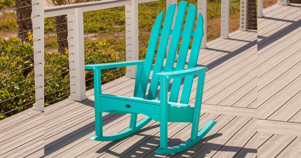 Fabulous Win A Trex Cape Cod Adirondack Rocking Chair Julies Andrewgaddart Wooden Chair Designs For Living Room Andrewgaddartcom
