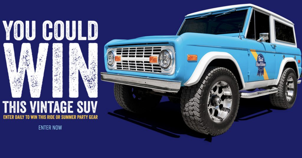 The Pabst Blue Ribbon Easy Vintage Sweepstakes - Julie's