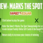 DEW Marks The Spot Sweepstakes & Instant Win Game
