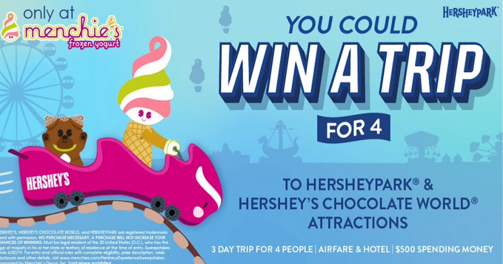 """Menchie's Hershey's Experience """" Sweepstakes - Julie's Freebies"""
