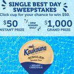 The Kaukauna Single Best Day Sweepstakes