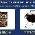 Treasure Cave Cheese Thrilling Grilling Sweepstakes Instant Win Game