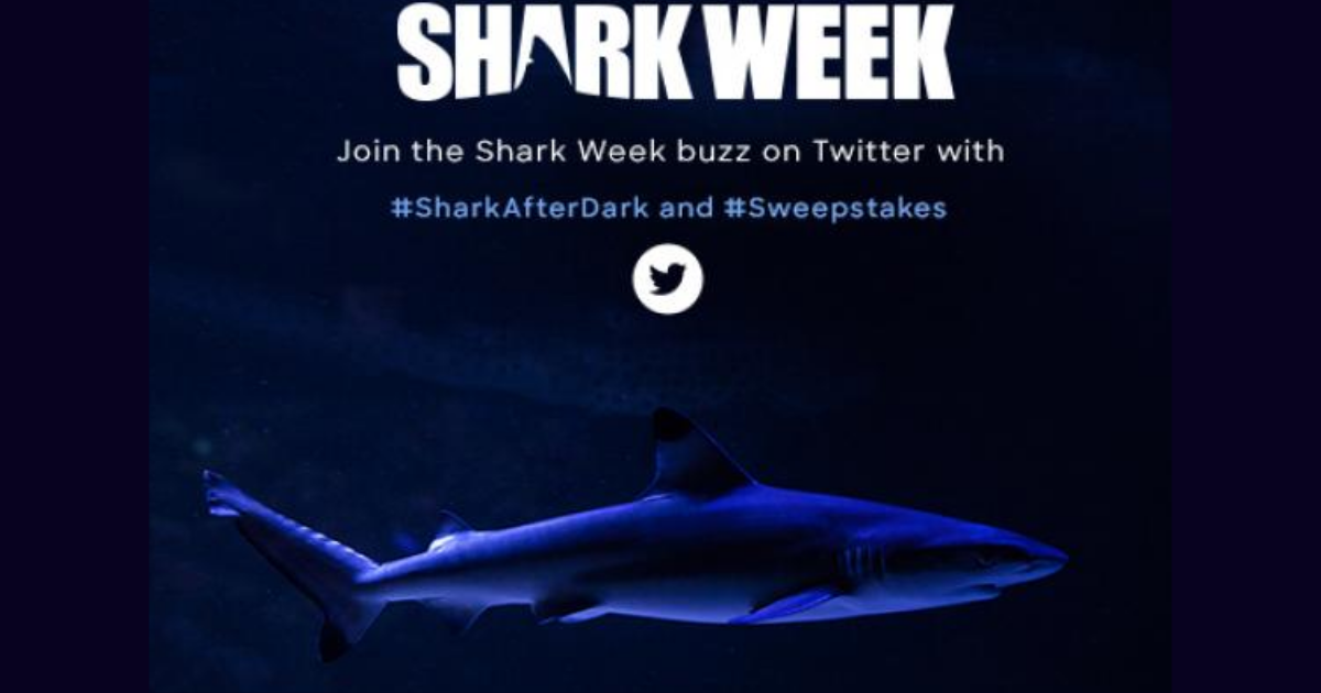Discovery's Shark After Dark Sweepstakes (Twitter) - Julie's Freebies