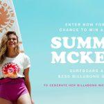 Summer Mckeen's Billabong Women's Surfboard Sweepstakes