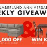 Slumberland Anniversary Weekly Giveaways