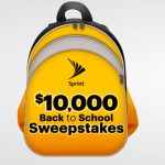 Sprint $10,000 Back to School Sweepstakes (Starts 8/1)