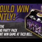 Power Packed! The Ravens Taco Bell Party Pack Instant Win Game