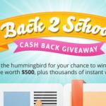 Back 2 School Treats Cash Back IWG & Sweepstakes