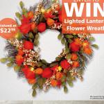 Lighted Lantern Flower Wreath Giveaway