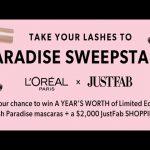 JustFab X L'Oreal Lash Paradise Sweepstakes