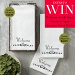 Lilian Vernon Scroll Hand Towels & Aged Chestnut Towel Holder Giveaway