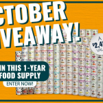 The Augason Farms October 2019 1-Year Food Storage Sweepstakes