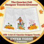 Quacker Factory Designer Towels Giveaway