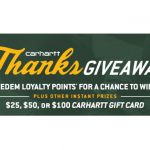 Carhartt 2019 ThanksGiveaway Instant Win Sweepstakes
