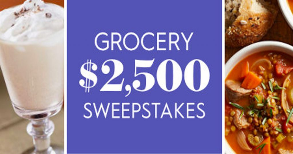 The Bhg 2 500 Grocery Sweepstakes Julie S Freebies